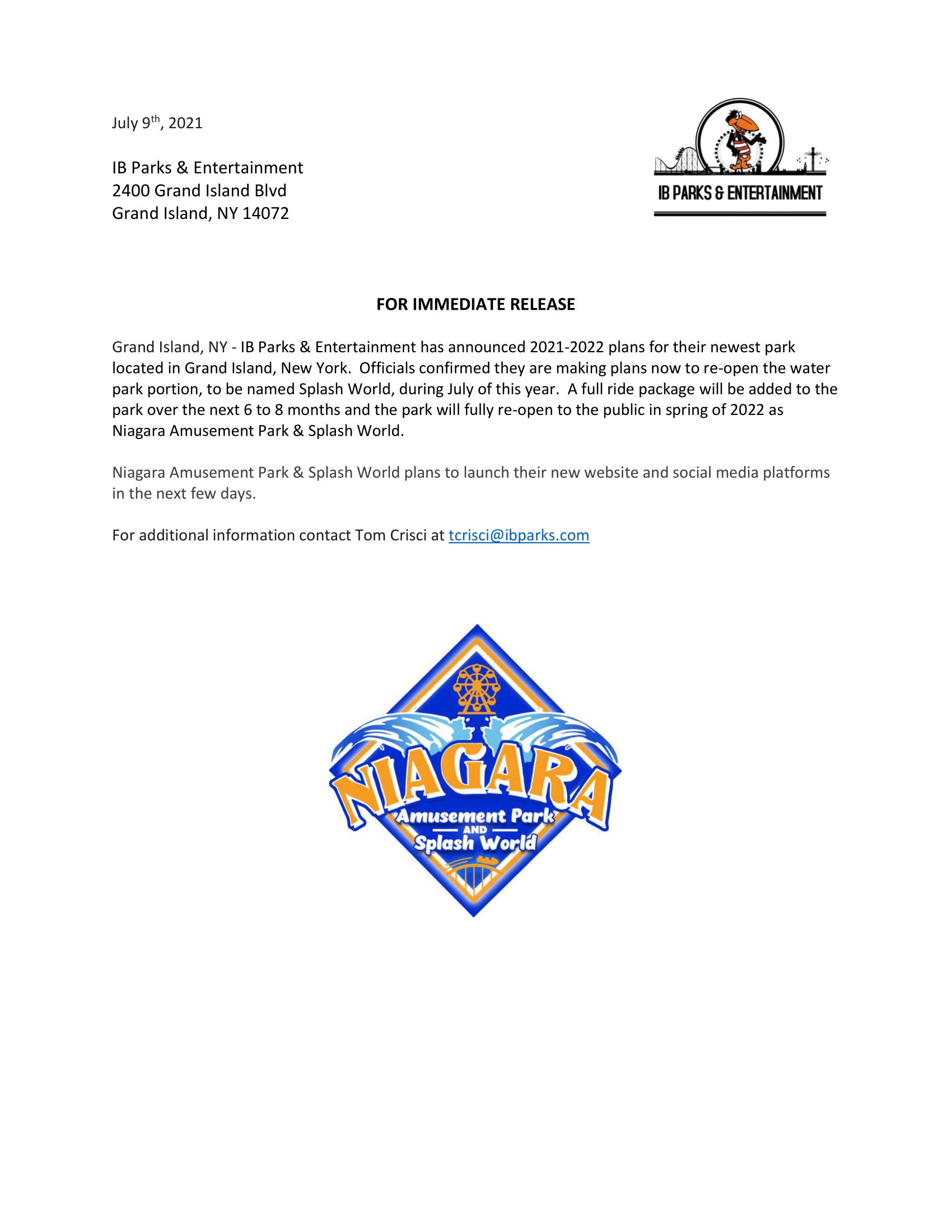 July 9th 2021 Press Release V2-1